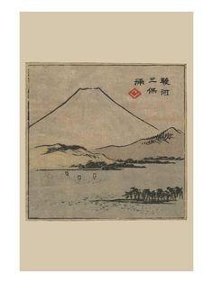 Miho Bay in Suruga (Suruga Miho No Ura) Prints by Ando Hiroshige at AllPosters.com
