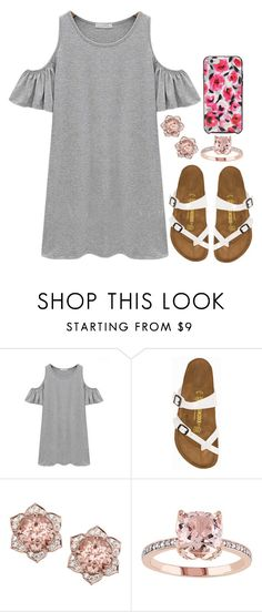 """""""679"""" by legitimately-kierstin ❤ liked on Polyvore featuring Chicnova Fashion, Birkenstock and Kate Spade"""