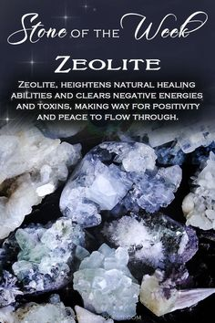Our stone of the week, zeolite, is a perfect tool to turn to when you wish to reset your vibration or the energy of your space. Simply hold it in meditation or place it on your altar to begin experiencing its sacred magic! Crystal Healing Stones, Crystal Magic, Crystal Grid, Stones And Crystals, Gem Stones, Minerals And Gemstones, Crystals Minerals, Rocks And Minerals, Chakra Crystals
