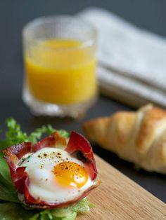 STIPLU.: Viikonloppu... Mikä ihana syy nauttia herkkuaamiainen! Kinkkukupit - Egg/Ham cups