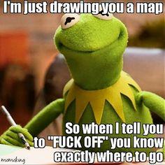 Kermit so funny! Stupid Funny Memes, Funny Relatable Memes, Haha Funny, Funny Stuff, Work Memes, Work Humor, Funny Kermit Memes, Funniest Memes, Les Muppets