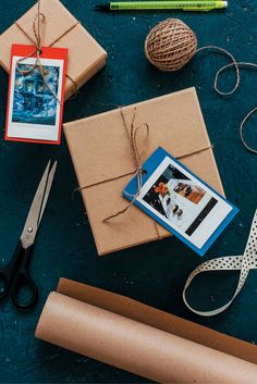 Personalize your gifts this year with these DIY gift tags with Polaroid photos.