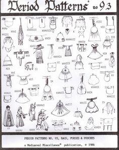 Schnittmuster: Taschen aus Mittelalter und Renaissance - Kostümkram
