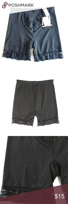 Slimming Microfiber Light Control Shaping Shorts Delta Burke Slimming Microfiber Long Leg Light Control Shaping Shorts  •Thin, light weight stretch fabric - light control •Lace trim •Size 8/1X •94% Polyester, 6% Spandex •MSRP on tag is $18  Thank you so much! Delta Burke Intimates & Sleepwear Shapewear