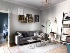 AH5 Stockholm, Scandinavian Interior, Living Room Interior, Decoration, Entryway, Mirror, House Tours, Inspiration, Furniture