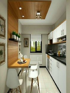 Küchen Design, Layout Design, Design Ideas, Small Kitchen Renovations, Kitchen Remodeling, Simple Kitchen Design, Small Kitchen Tables, Space Kitchen, Bright Kitchens