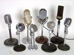 Art Deco micrófonos alrededor del año de 1920 de 1950
