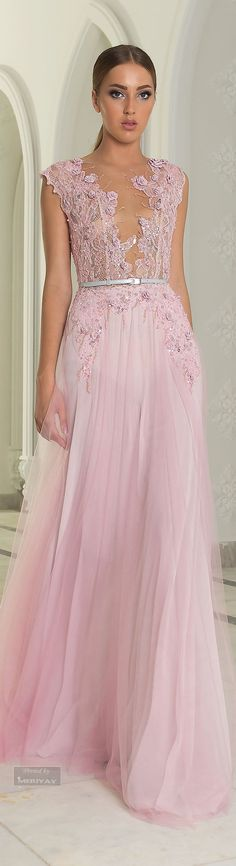 Fall in love with pink with this stunning Abed Mahfouz Fall Winter 2014-2015 dress