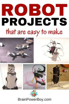 Use these robot videos to learn to make your own robot! Kids (and adults!) are going to love these easy projects. Great for science fairs & STEM exploration