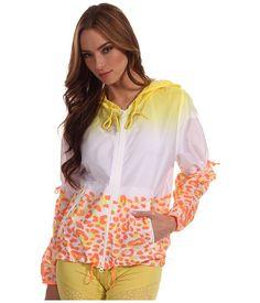 adidas by Stella McCartney Travel Pack Print Jacket White/Radiant Aqua - Zappos Couture