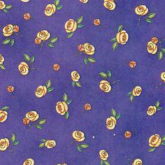 Sleeping Beauty Tossed Roses Purple 45348v
