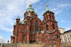 The Uspenski Cathedral is a Russian Orthodox cathedral on the Katajanokka peninsula in Helsinki. It is the largest Orthodox church in western Europe
