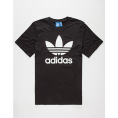 Adidas Originals Trefoil Mens T-Shirt ($28) ❤ liked on Polyvore featuring men's fashion, men's clothing, men's shirts, men's t-shirts and black