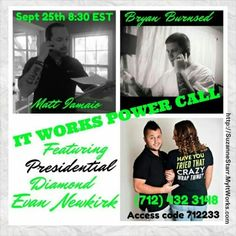 Ladies and gentlemen.....this is a call that everyone needs to listen in on!  Want to hear from men who rock this business and learn their Steps to Success?  Dial into this call Tonight at 8:30pm EST. Contact me after with your questions.   Suzanne 732-207-6819 Starr_sz@yahoo.com  Http://SuzanneStarr.MyItWorks.com  #ItWorksGlobal #wraps #itworks #debtfree #Residualincome #Teamwork #InvestInYourself #OurTime #BeTheBoss #YourJourney #BigDreamsBig #FinancialFreedom