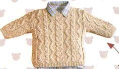 [Tricot] Le pull beige irlandais - La Boutique du Tricot et des Loisirs Créatifs                                                                                                                                                                                 Plus