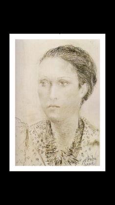 Pablo Picasso - Dora Maar en robe à pois, 1936 - Pencil - 37 x 27 cm