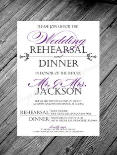 In Honor of the Future Mr. & Mrs. Wedding Rehearsal and Dinner Invitation - 5x7 - Cardstock - You Pick Your Colors