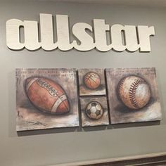 Vintage sports themed nursery wall decor!