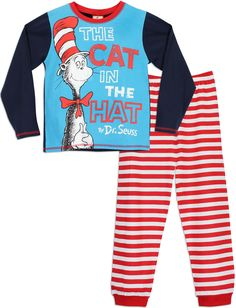 Dr Seuss Boys The Cat in the Hat Pyjamas Age 2 to 3 Years