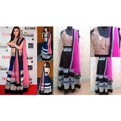 Online shopping for designer black & pink color party wear bollywood alia bhatt lehnga designed by being fashion
