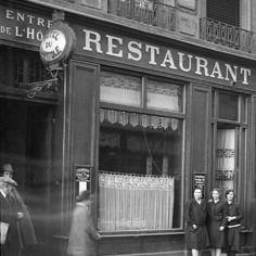 Photo ancien commerce Bar Restaurant Aux Caves du Père Jean tirage repro an.1920