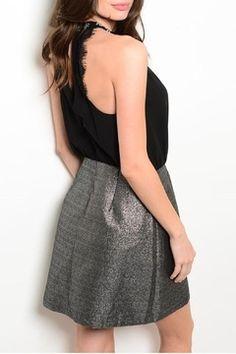326ad0dcc77b Matilda Metallic Black Dress - Alternate List Image Matilda, Fashion  Boutique, Lbd, Cool