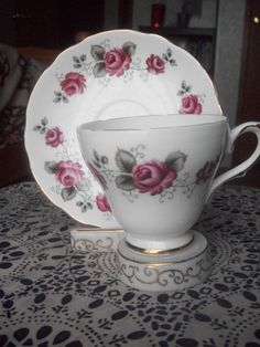 Royal Trend Bone China Cup Saucer and Stand by augiesvintagefinds, $29.95