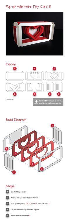 Do-it-yourself Pop-up Valentine's Day Card [study 8]