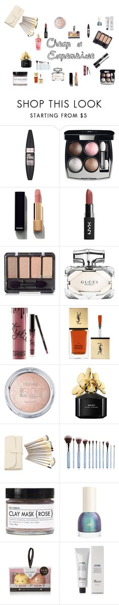 """""""$ x $$$"""" by julianatrentin1 ❤ liked on Polyvore featuring beauty, Maybelline, Chanel, Gucci, Kylie Cosmetics, Yves Saint Laurent, Marc Jacobs, Christian Dior, Sigma and Fig+Yarrow"""