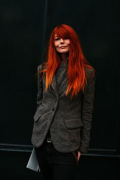 Fiery red with some light bits on the ends. Who wants it? www.therootsalon #besthaircolor