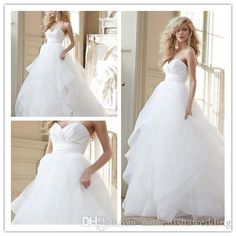 Cheap Hayley Paige Organza Wedding Dresses 2015 Sexy Corset Backless Plus Size Modest Cascading Ruffles Princess Bridal Gowns Custom New Online with $104.72/Piece on Nameilishawedding's Store | DHgate.com