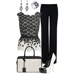 """""""Black and White"""" by zeinab-adel on Polyvore"""