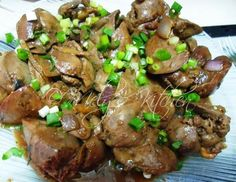 CHICKEN LIVER ADOBO ~ Ingredients: kilo chicken liver 1 small onion 5 cloves garlic 1 tablespoon ginger (strips) 3 tablespoons soy sauce salt and pepper to taste 2 tablespoons vinegar ~~~ Chicken Liver Recipes, Onion Recipes, Mushroom Recipes, Roasted Mushrooms, Stuffed Mushrooms, Stuffed Peppers, Filipino Recipes, Filipino Food, Pinoy Food