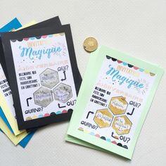 {Free printable} L'invitation magique à gratter!