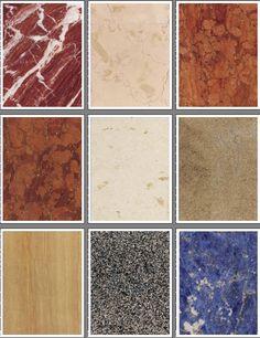 Mármol Set 2 - un conjunto de patrones de color natural de mármol para todo tipo de trabajos manuales como la artesanía álbum de recortes, rubberstamping, y decoupage.