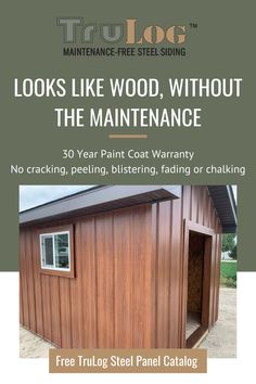 Steel Siding, Barn Siding, House Siding, Pole Barn House Plans, Pole Barn Homes, Small House Plans, Building A Garage, Building A House, Log Cabin Living