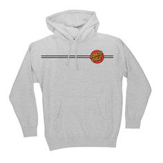 Classic Dot gear from Santa Cruz Skateboards! The SC Dot regular fit pullover hooded sweatshirt features a blend of high quality cotton and comes with a front chest print, and a large back print. Santa Cruz Sweatshirt, Grey Sweatshirt, T Shirt, Fendi, Good Brands, Trendy Hoodies, Hoodie Outfit, Edgy Outfits, Sweater Jacket