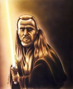 Tom Kbrink's Art and Holistic Living: Qui Gon Jinn Illustration