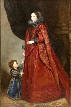 Anthony van Dyck. Portrait of a Woman and Child, c. 1623-1625