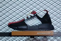 new product 91ff1 360ee Off-White X Adidas NMD R1 NMD Black Blue Red Sale Outlet