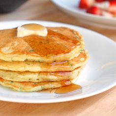 Sweet Zucchini Pancakes: made these this morning but used half the yogurt and added some applesauce.... Also a half tbs of vanilla. Oh and I quadrupled this recipe ;) they are delicious! A little flimsy but very yummy!