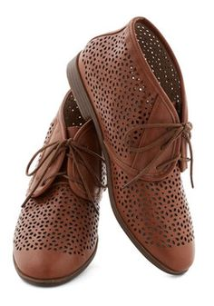 Frolic to the Fun Bootie in Brown, #ModCloth