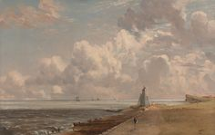 John Constable, 1776–1837, British, Harwich: The Low Lighthouse and Beacon Hill, ca. 1820