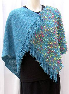 handwoven poncho, cotton and silk