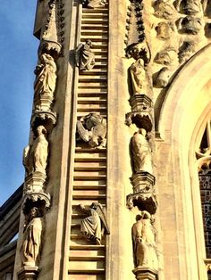 Angels or demons? Jacobs Ladder on the facade of Bath Abbey, England. Photo by J.F. Penn Jacob's Ladder, Angels And Demons, Fantasy Series, Writing Inspiration, Dark Fantasy, Shadows, Facade, England, Bath