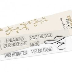 Karten-Kunst Clear Stamp Set - Hochzeit Save The Date, Stamp Sets, Clear Stamps, Inspiration, Products, Invites Wedding, Getting Married, Tutorials, Cards