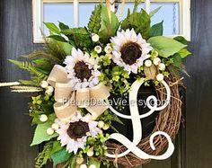 NEW! Front Door Wreaths, Summer Door Wreaths, Farm House Wreaths, Wreaths for Door, Grapevine Wreath, Burlap Door Wreaths, Wreaths for Door