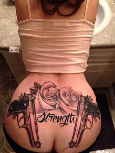 New ink . Tattoos . Gun Tattoo . Rose Tattoo . Guns and Roses Tattoo ...