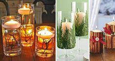 Vonné sviečky vytvárajú veľmi príjemnú atmosféru a vôňu. Pripravili sme si pre vás 12 inšpirácii, ako si pekne ozdobiť a skrášliť obyčajné sviečky. Doporučujeme vyskúšať zdobenie so škoricou.