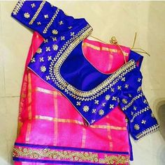 Silk Sarees are must for wedding... Wearing silks on Pelli kuturu ceremony is kind of routine... Try wearing chiffons/georgette with grand blouses and make it memorable.. To order this kind Pls WhatsApp on +91 94929 91857 #sarees #chiffons #georgettes #designer